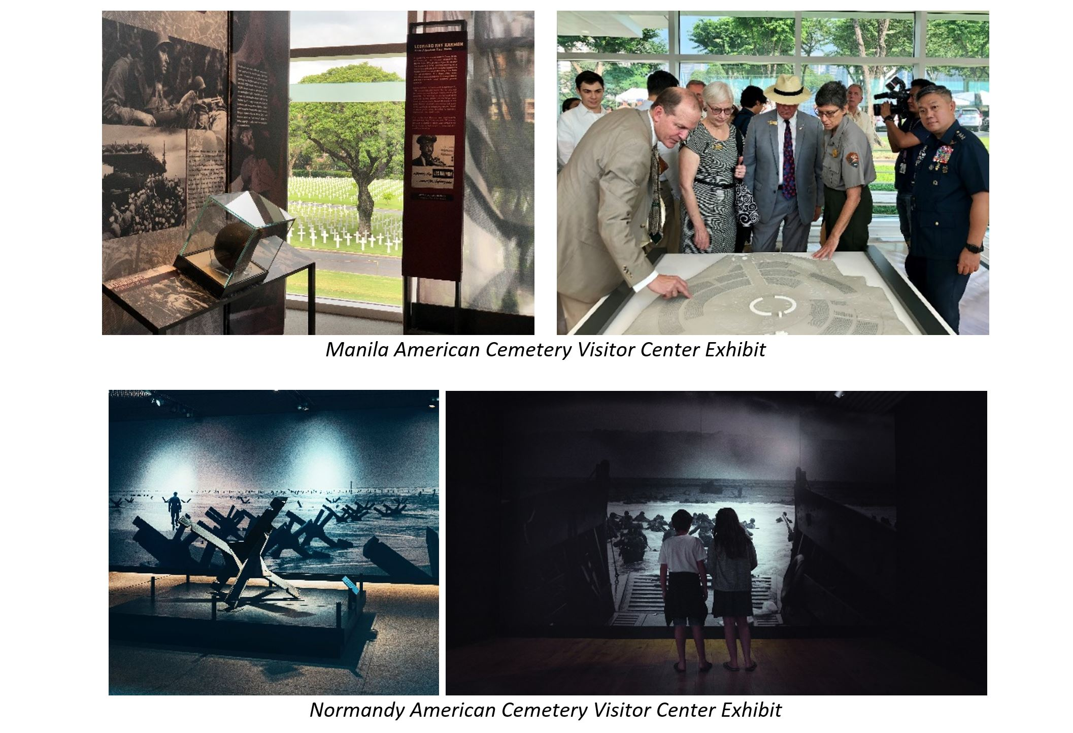 Visitor Center Exhibits at Manila and Normandy American Cemeteries