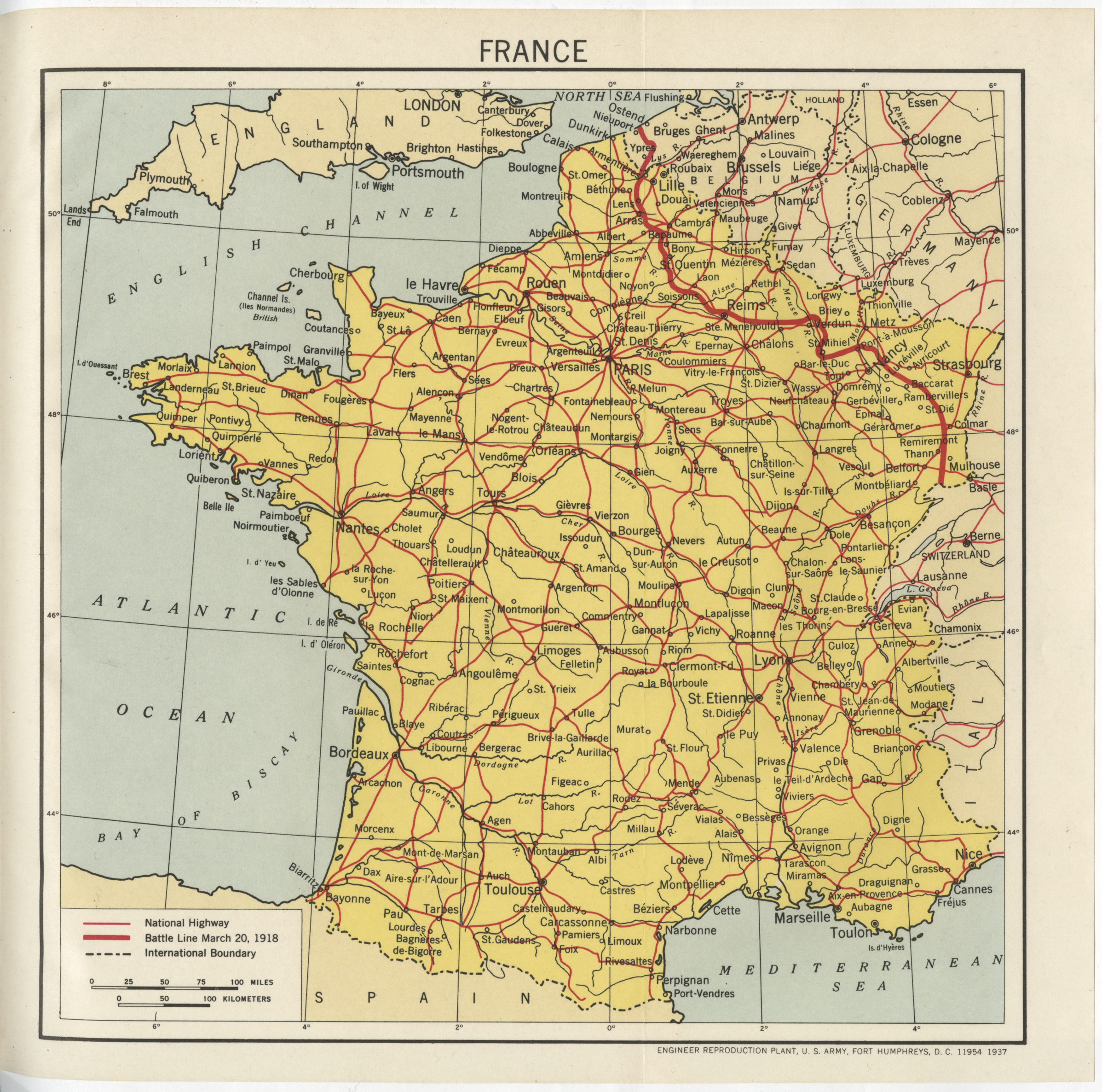 Map Of France During Ww1.World War I Historic Reference Book Now Available On Abmc Gov