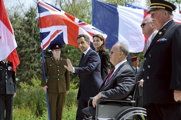 Download Image Of Normandy DDay Sarkozy ClelandJPG
