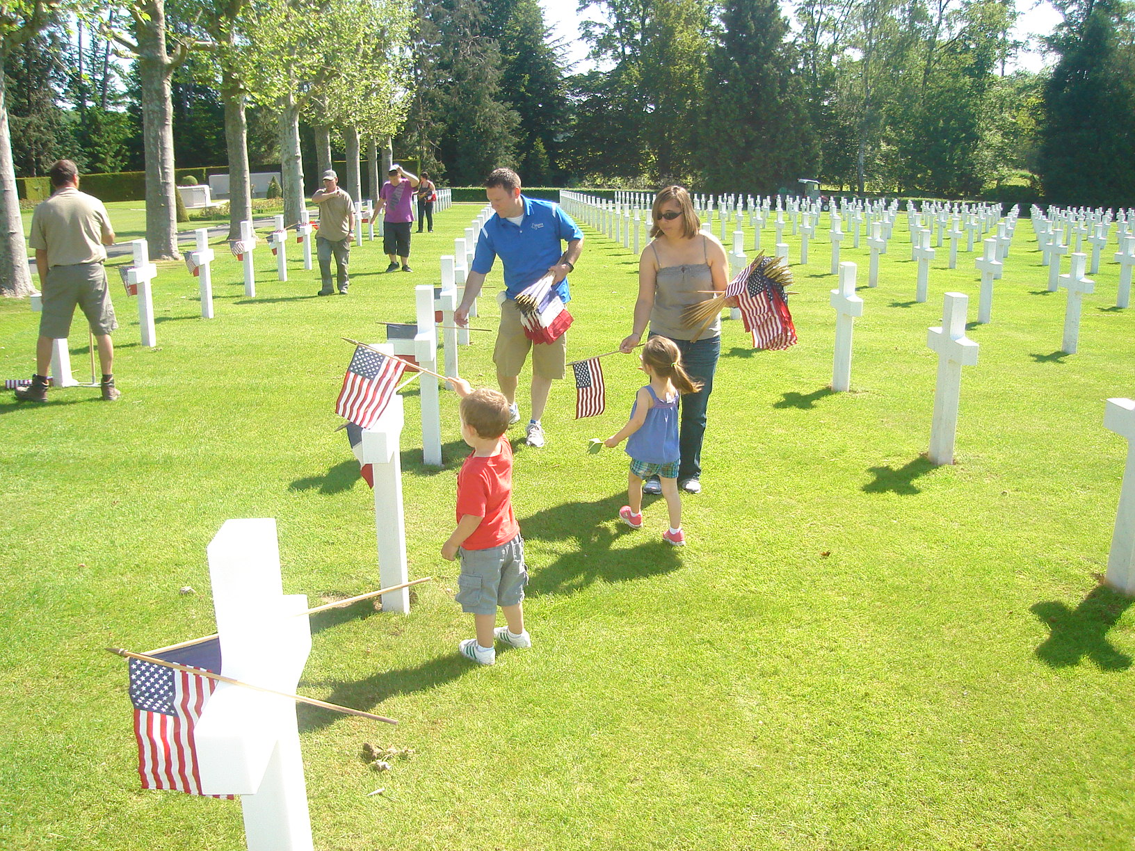 Oise aisne md2012 flag placement 0 jpg american battle for Proper placement of american flag