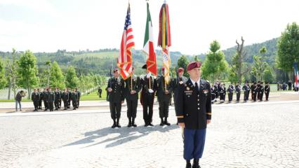Participants in the 2012 Memorial Day ceremony at Florence American Cemetery.