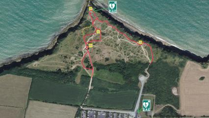 Pointe du Hoc preservation work map