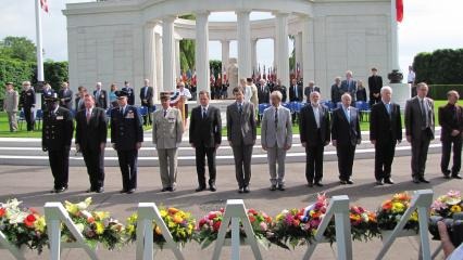 Wreath-laying during the 2012 Memorial Day ceremony at St. Mihiel American Cemetery.
