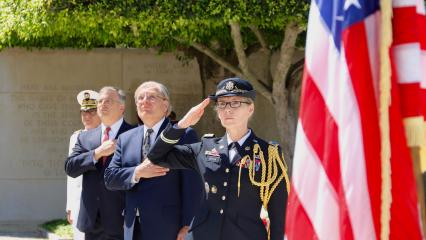 Memorial Day 2020: official part at North Africa American Cemetery official party