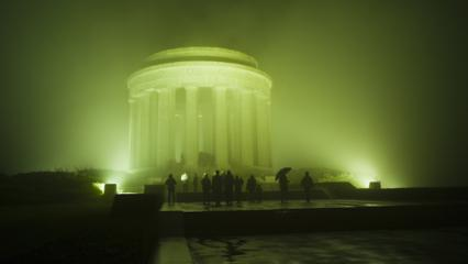 Visitors view the Montsec American Monument at first light.