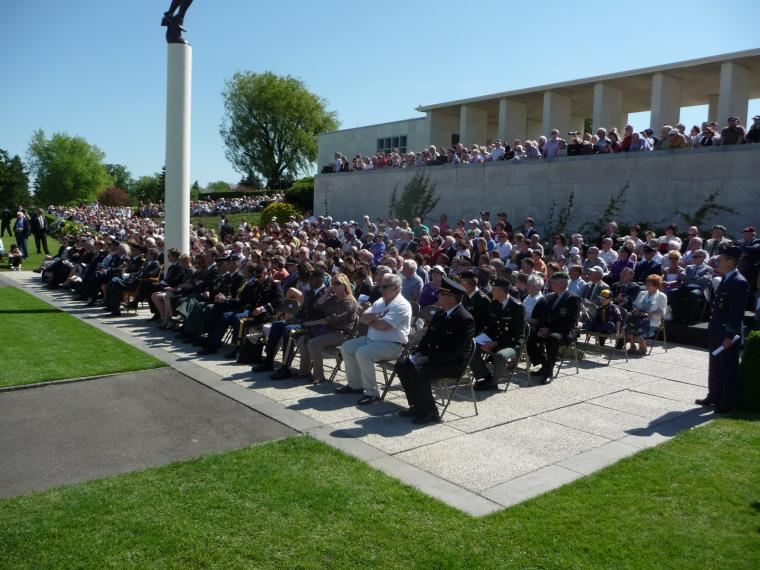 Attendees at the 2012 Memorial Day ceremony at Henri-Chapelle American Cemetery.