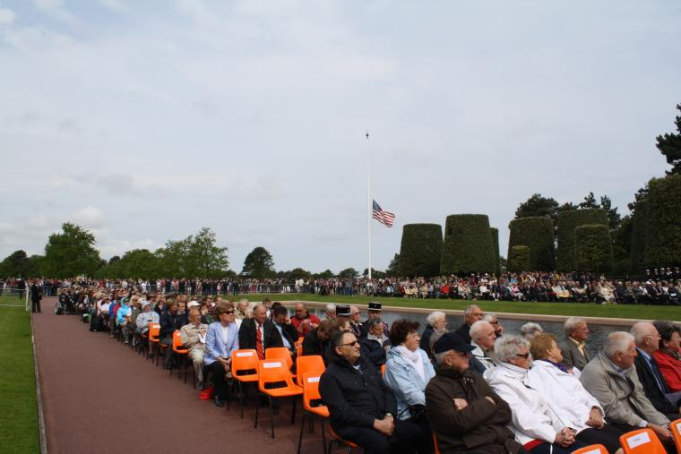 Attendees at the 2012 Memorial Day ceremony at Normandy American Cemetery.