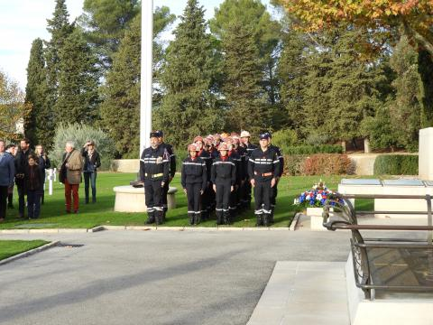 Local firefighters participated in the ceremony.