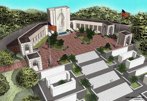Architectural rendering of pavilions added to Honolulu Memorial in 2012.