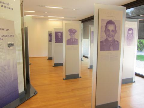 Panels in the new visitor center tell individual stories of sacrifice.