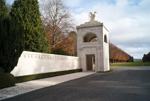 The entrance at Meuse-Argonne American Cemetery.