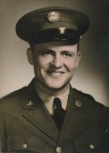Pfc. Robert D. Watts in uniform in an undated photo.